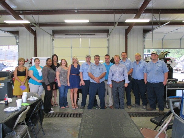 Pictured L to R - Janie Bates-Fulton office, Kim Woods and Chantel Williams-Aberdeen office, Laken Graham, Amy Alexander and Misha Comer-Fulton office, Joe McCullar, Randy Arbuckle, Zack Jones-Service Department, Louis Lee-Fulton office, Andy Moore, Chris McMillen and Andrew Alexander-Service Department