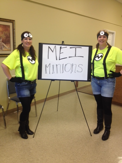 Bellena Criddle and Shauna as MEI Minions :)