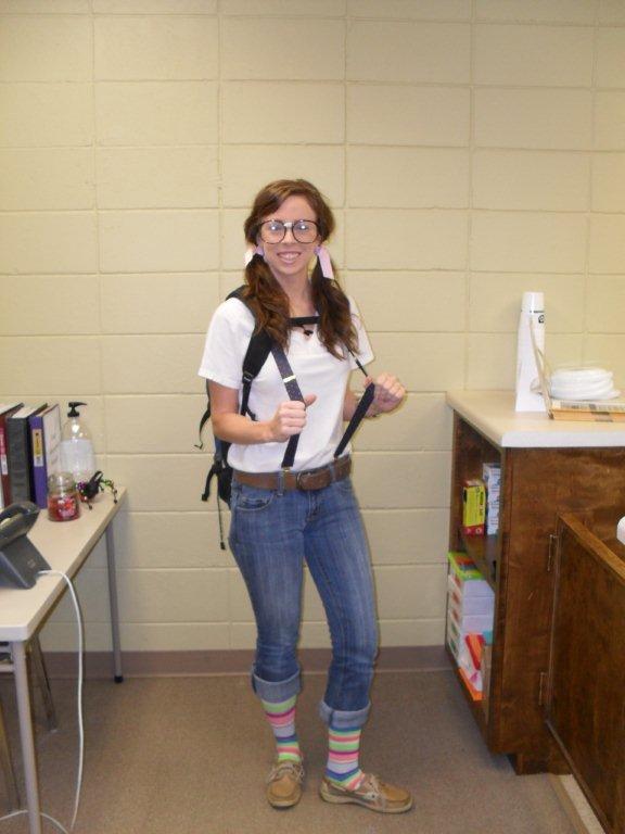 Chistina Sciple makes a cute nerd