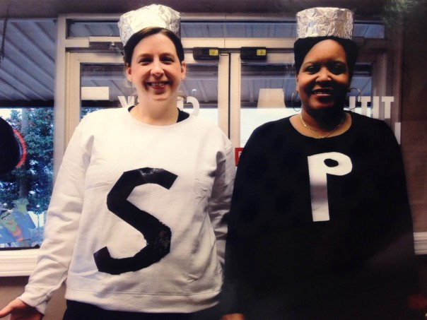 Salt and Pepper's Here! Julie Snow (salt) and Mattie Doss (pepper)