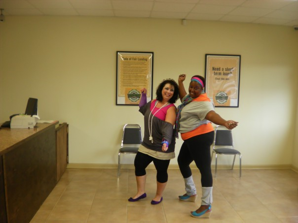 Lakisha McCants and Kerri Hellmers are rockin' it 80's style!