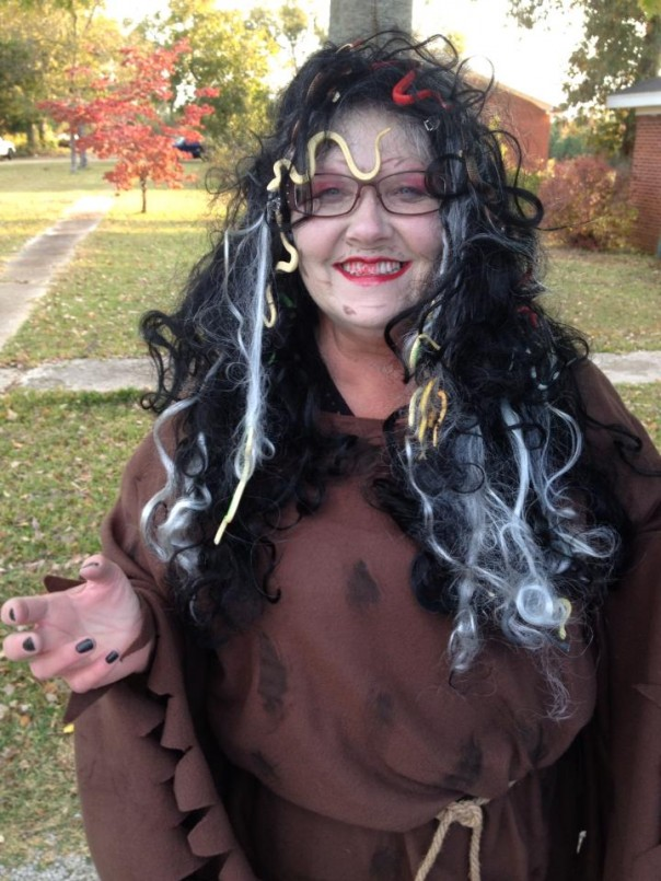 Lynn Johnson as Medusa for Truck or Treat