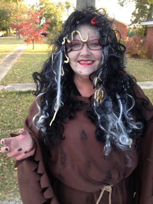 Lynn Johnson as Medusa for Truck or Treat