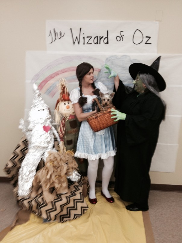 Dorothy (Christie Nuckols) and the Wicked Witch of the West (Susan Sudduth) and Toto visited Fayette today.